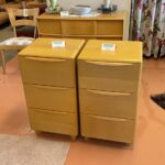 refinished in Wheat $850 each. $1550/pair M528 pier cabinets