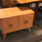 redone Champagne  $1200  sold M395 Record Cabinet end table