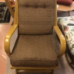Refinished Wheat. Spring filled cushions and upholstery are original and the fabric is in good condition. $1700. Aristocraft 367 Rocker