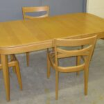 M169 Jr Dining Table, 3+1 M553 chairs in very good original Wheat set