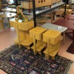 Custom made/sized Skyliner nightstands in Wheat