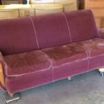 sofa in original mohair also needs to be completely redone
