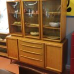 $2800  hold M1547 Triple Crown China on M1543 credenza in original excellent Wheat