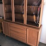 Refinished Champagne M1547 Triple bubble china on M1543 credenza