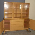 Triple crown china on credenza redone Wheat