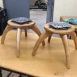 redone Natural pair of pouffe bottoms