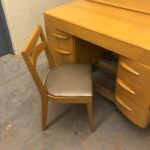 with 953 chair redone Wheat desk w/chair older kneehole desk